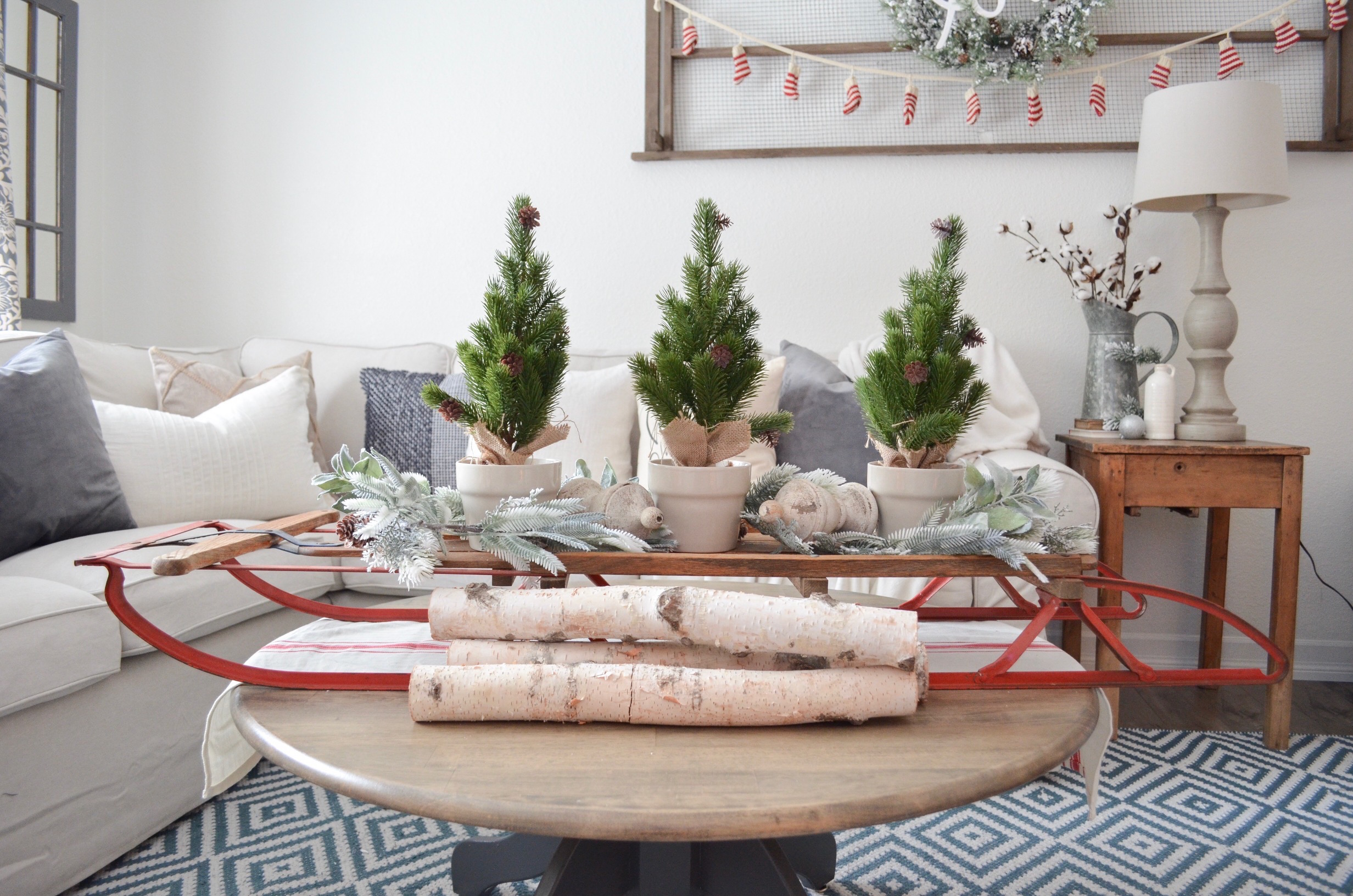 3 Ways to Decorate with a Vintage Sled - Farm Fresh Homestead