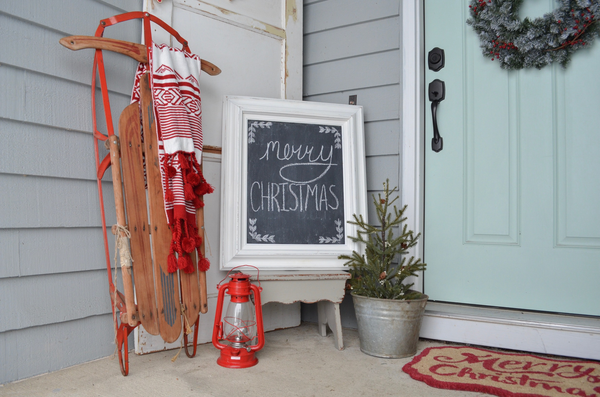 3 Ways to Decorate with a Vintage Sled Farm Fresh Homestead