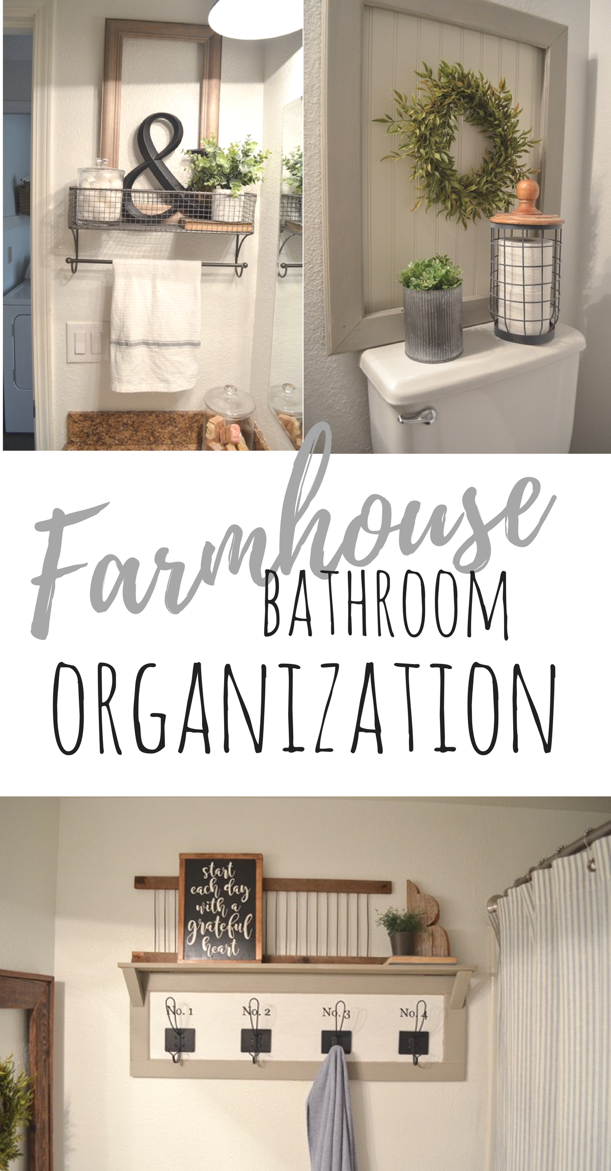 Farmhouse Bathroom Organization