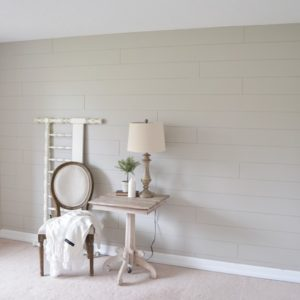 Office Makeover-DIY Shiplap Tutorial