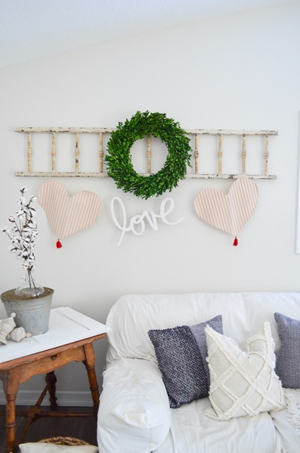 farmhouse valentines banner