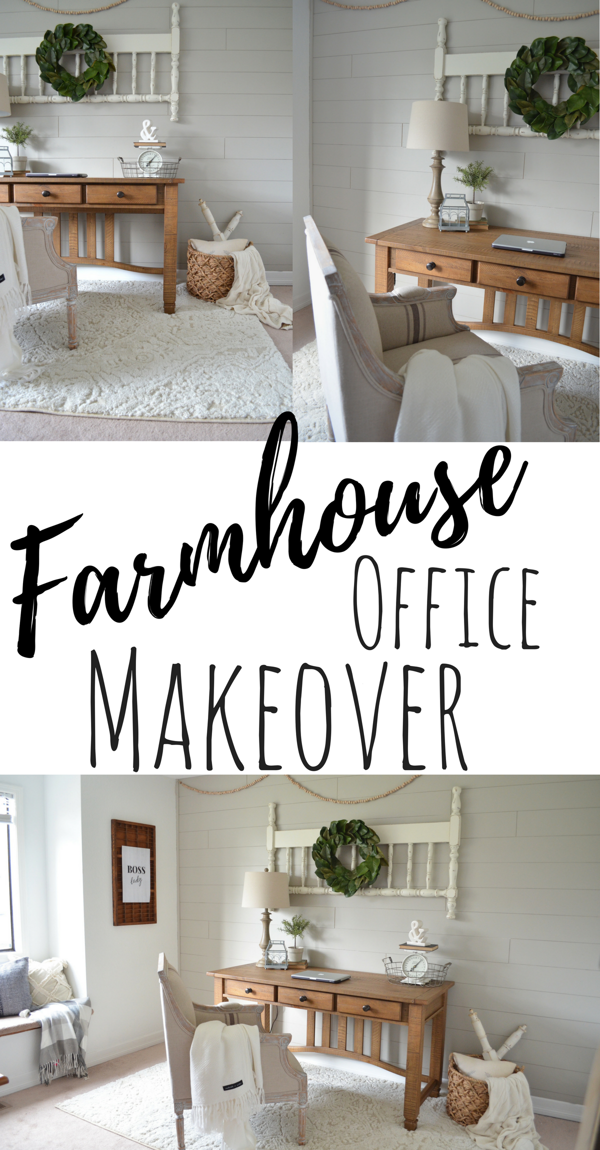 farmhouse office makeover
