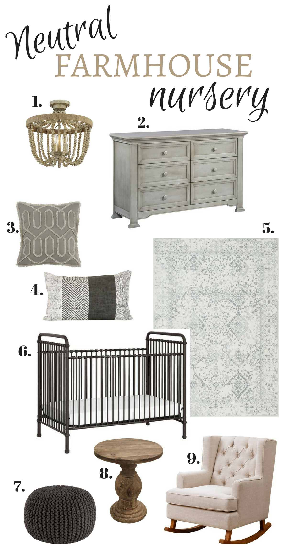 neutral farmhouse nursery