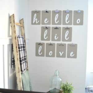 DIY Nursery Clipboard Sign