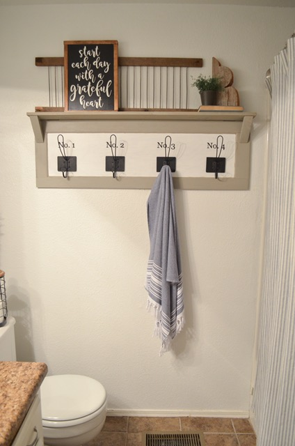 Farmhouse Bathroom Organization Don T Want To Build Your Own I Will Link A Few Style Towel Racks That Found For You At The End Of This Post